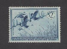 RW22 - Federal Duck Stamp. Single. Hunter Signed. Used.  #02 RW22HSg