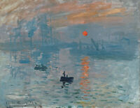 Impression Sunrise Claude Monet Wall Art Painting Print on Canvas Giclee Small
