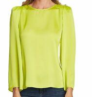 Vince Camuto Women's Neon Green Size Medium M Puff Shoulder Top Blouse $89- #214