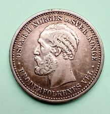 More details for coin, sweden, oscar ii, krona, 1897 silver