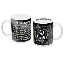 Collingwood Magpies AFL Coffee Mug with Team Song 330ml Man Cave Bar Gift
