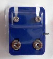 1 Doz Pairs Caflon Silver Tone Crystal Ear Piercing Studs Original 114507