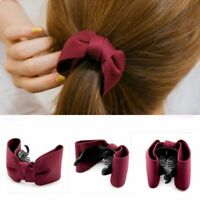 Banana Barrette Hair Claw Bow Hairpin Ponytail Holder Scrunchy Clip Hairband