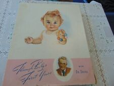 Vintage 1942 Pink Through Baby First Years Memory Book with Dr. Dafoe
