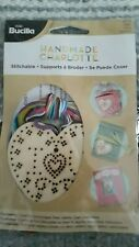 Plaid Bucilla Stitchable Cross Stitch Wooden Heart  Handmade Charlotte 46113