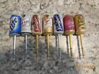 Set of 7 Leinenliugels and Miller High Life Beer Can Fishing Bobber Floats Stop;