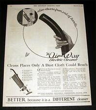 1920 OLD MAGAZINE PRINT AD, AIR-WAY ELECTRIC CLEANER, CLEANS FROM END OF HANDLE!