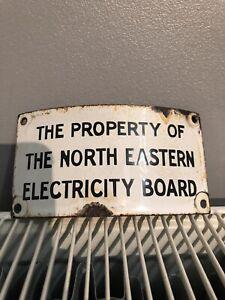 Vintage North Eastern Electricity Board Enamel Sign