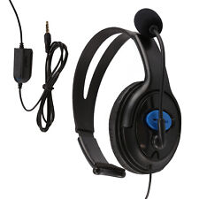 GOOD HEADSET HEADPHONE WITH MICROPHONE +VOLUME CONTROL FOR PS4 CONTROLLER & PC