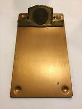 Vtg National Waste Material Dealers Clipboard Brass 1913-1953