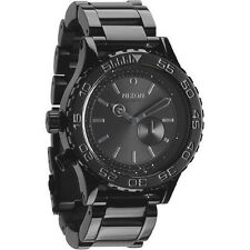 New Authentic Nixon 42-20 Tide Watch All Black / Crystal A035-1150 A0351150