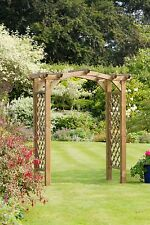 Zest 4 Leisure Venus Wooden Garden Arch Pergola Plant Support Trellis FSC Wood