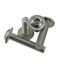 M3 M4 M5 M6 304 Stainless Steel Hex Socket Flange Button Washer Head Screw New