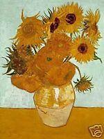 Transporter Gogh Sonnenblumen Metall Kühlschrank Magnet (Na )
