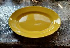 "VINTAGE Homer Laughlin Harlequin Yellow Oval Serving Platter 13 1/2"" x 10 1/2"""