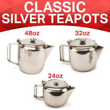 Catering Cafe Stainless Steel Teapot Vintage English British Tea 2-12 CUP UK