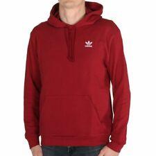 adidas Essential Hoodie Burgundy Herren Kapuzenpullover Sweatshirt Rot Weinrot