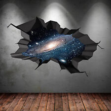 A TODO COLOR espacio Universo Galaxy mundo roto 3d Pegatina Pared Arte wsd71