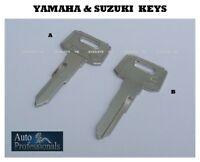 Yamaha & Suzuki motorcycle key cut to code  A , B  motorbike ignition keys cut