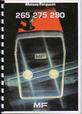 Massey Ferguson 265, 275 and 290 Tractor Operator Instruction Manual Book