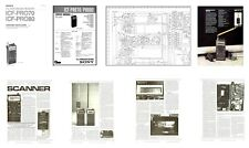 """SONY PRO-80 COPY OWNERS + SERVICE MANUALS + HQ CATALOG PHOTO + 11x17"""" DIAGRAMS"""
