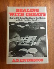 Dealing With Cheats A.D. Livingston Fine First Edition in Dust Jacket, Gambling,