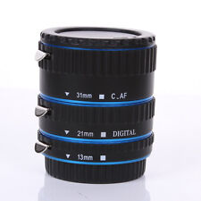 Metal Auto Focus AF Automatic Extension Tube Blue For Kenko Canon EF EF-S Lens