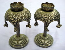 vintage silver candle stand candle holder from rajasthan india gift
