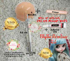 Kit de Herramienta de Pelo Cerdas rerooting Blythe Pullip Doll Aguja Custom Blythe Mohair
