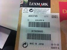 ORIGINALE Lexmark 40x3745 c935 x940 x945 Developer Carrier Magenta Nuovo