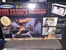 werner built in fire escape ladder