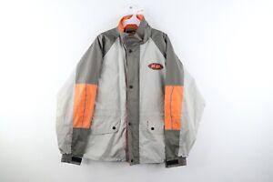 Vintage Harley Davidson Mens Medium Distressed Spell Out Waterproof Rain Jacket