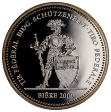 2000 Switzerland Shooting Festival Thaler Biere Silver Proof Fr.50 Cap SKU47993