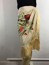 Ralph Lauren Blue Label Embroidered Silk Wrap Skirt 12 New
