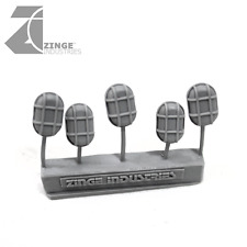 Zinge Industries Bulkhead Lights Set of 5 15mm Long Axis Oval Scenery New SBHL06