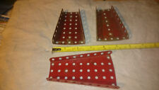 3 Meccano Various Flanged Sector Plates Part Number 54 +