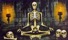 6-Ft. Sitting Chained Skeleton Prisoner Silhouette Halloween Wall Murale