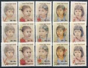 [P5403] Suriname 1981 good sets (3) of stamps very fine MNH