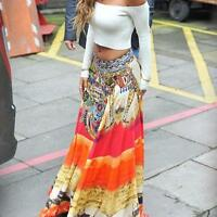 Women Boho Hippie Ladies Long Maxi Skirt Summer Beach Casual Party Dress