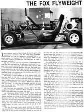 New! Vintage 1963 Fox Flyweight Go-Kart Test Report 3 Pages