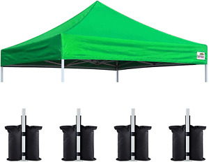 Eurmax New 10X10 Pop up Canopy Replacement Canopy Tent Top Cover, Instant Ez Can