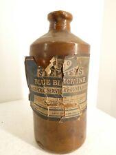 More details for vintage 1951 stephens blue black ink bottle stoneware bourne denby j2