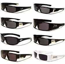 LOCs Black Hardcore Gangster Mens Sunglasses Square Shades Black UV400Lense 9096
