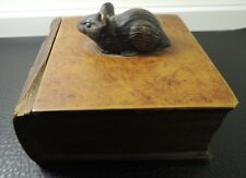 Art deco handmade mouse handle bakelite resin book trinket jar box-rare c.1920s