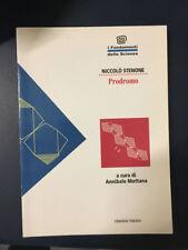 LIBRO PRODROMO NICCOLO' STENONE MOTTANA TEKNOS FONDAMENTI SCIENZA 1995