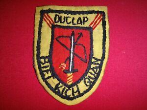 Vietnam War Hand Made Patch ARVN PRU Team DUC LAP BIET KICH QUAN