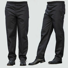 More details for black chef trousers excellent quality elasticated pants 3 pockets black trousers