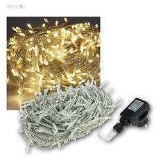 LED Luci stringa esterna a catena per & Interno 400 bianco caldo 230V IP44