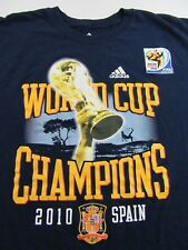 Adidas South Africa 2010 Fifa World Cup Soccer Champs Spain SS T Shirt Size XXL