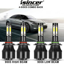 4-Side 9005 9006 Combo LED Headlight Kit High Low Beam Bulb 6000K 120W 32000LM